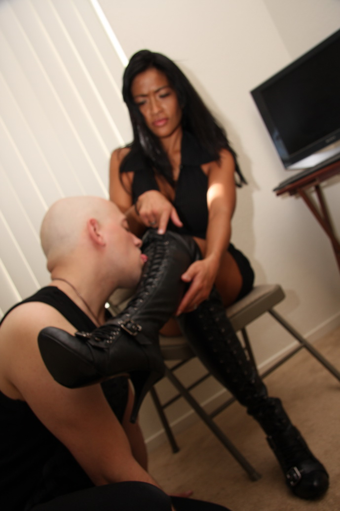 Two strict riding mistresses burn and whip their slave 2